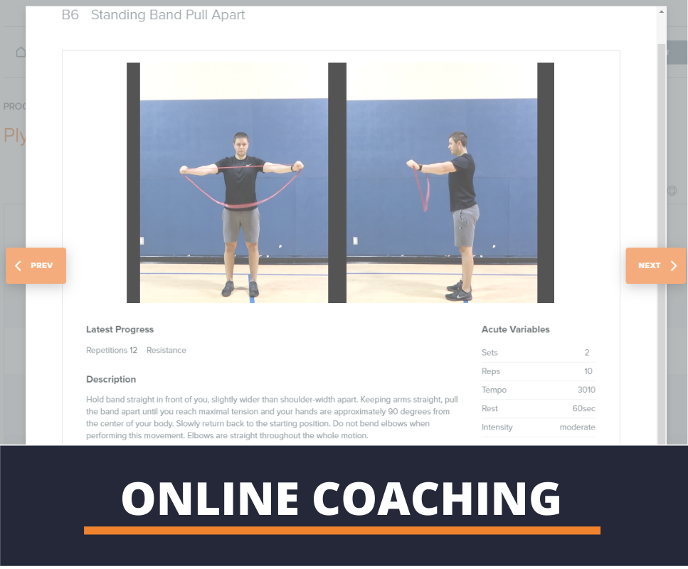 online personal training using laptop