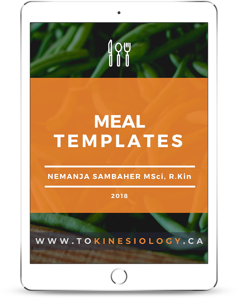 Meal Templates ebook