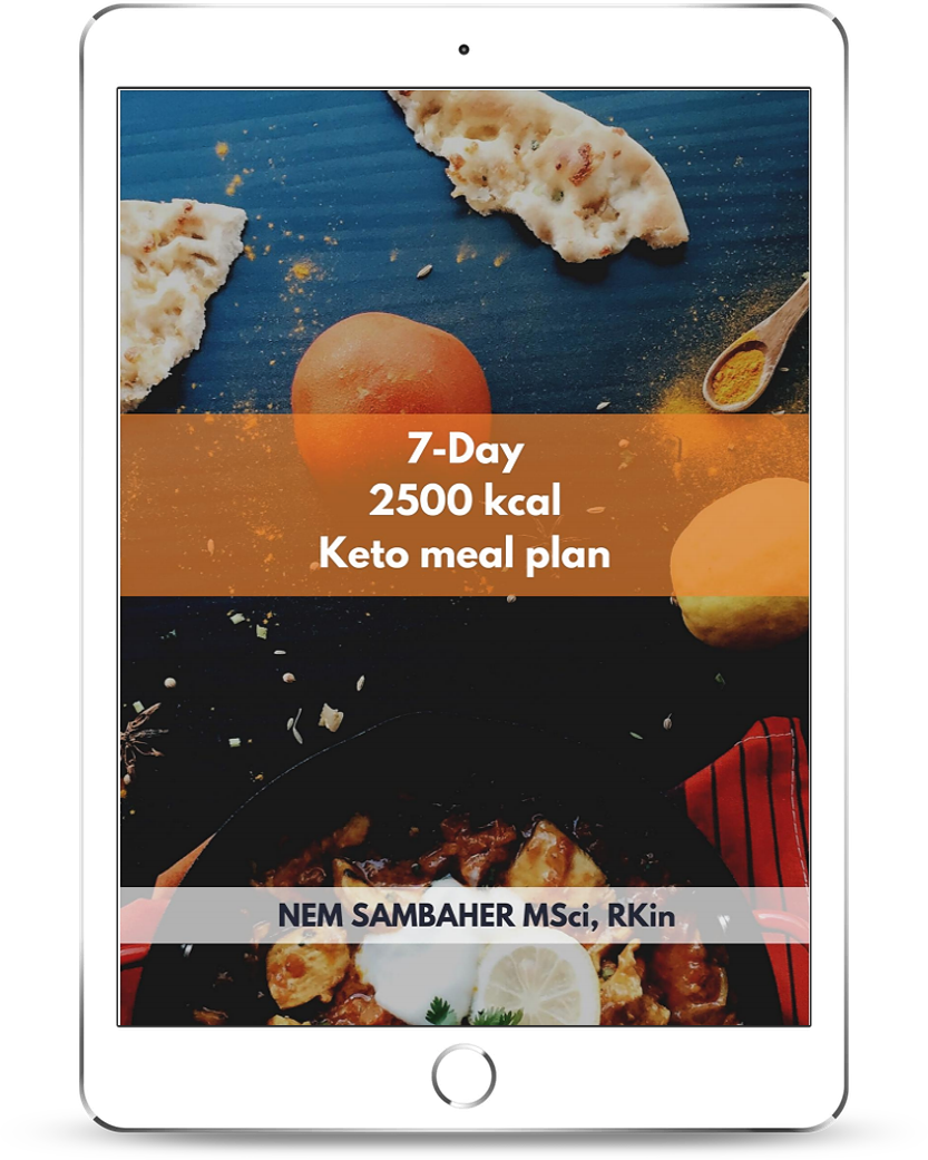 2500 kcal keto meal plan