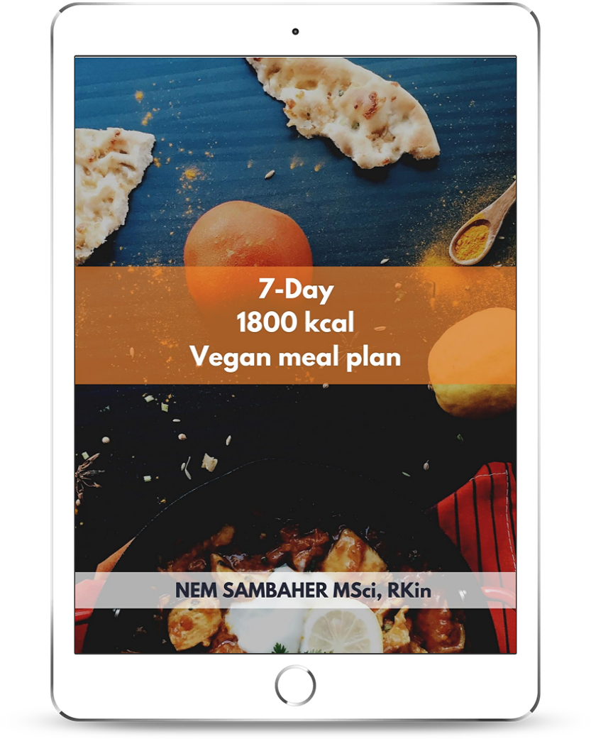 1800 kcal vegan meal plan